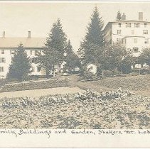"""Image of """"North Family Buildings and Garden, Shakers, Mt. Lebanon N.Y."""" - Mount Lebanon, NY"""