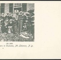 Image of No. 1066. Group of Shakers in Costume. Mt. Lebanon, N.Y. - Mount Lebanon, NY