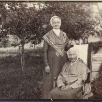 """Image of """"Sister Eleanor Potter and Mother Dolly Septon"""" - Mount Lebanon, NY"""