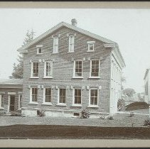 Image of [Ministry Building and the Corner of the Meetinghouse] - Mount Lebanon, NY