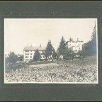 """Image of """"North Family Buildings and Gerden, shakers, Mt. Lebanon N.Y."""" - Mount Lebanon, NY"""