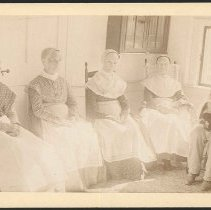 Image of [Group Portrait of Five Shakers] - Mount Lebanon, NY