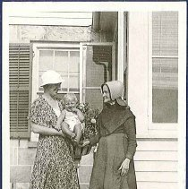 Image of [Eldress Sarah Neale with a Friend and Her Baby] - Mount Lebanon, NY