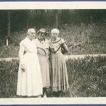 Image of [Eldress Ella Winship and Jennie Wells with an Unidentified Friend] - Mount Lebanon, NY