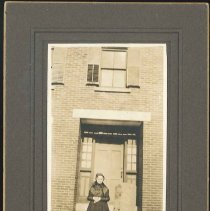 Image of [Sister Sadie Neale in Front of a Brick Dwelling] - Mount Lebanon, NY