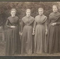 "Image of ""Group in Pine Grove. Lawn West of Church Family Dwelling"" - Mount Lebanon, NY"
