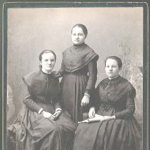 Image of [Matilda Dalton and Two Unidentified Sisters] - Mount Lebanon, NY