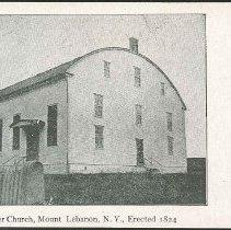 Image of Shaker church, Mount Lebanon, N.Y., Erected 1824 - Mount Lebanon, NY