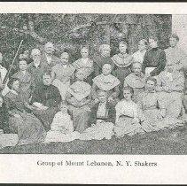 Image of Group of Mt. Lebanon, N.Y. Shakers - Mount Lebanon, NY