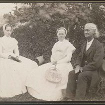 Image of [Sister Carrie Wade, sister Emma Jane Neale, and Brother Robert Valentine of the Church Family] - Mount Lebanon, NY