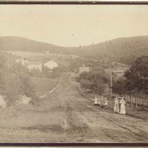 Image of [Main Road Looking South from Second Family] - Mount Lebanon, NY
