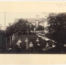 Image of [Shakers on the Lawn] - Mount Lebanon, NY