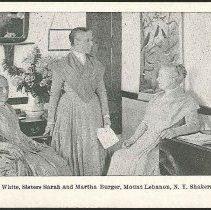 Image of Eldress Anna White, Sisters Sarah and Martha Burger,  Mount Lebanon N.Y. Shakers - Mount Lebanon, NY