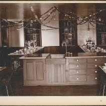 "Image of ""Section Dining Room, Church Family Dwelling, Mt. Lebanon, N.Y."" - North Family, Mount Lebanon, New York"