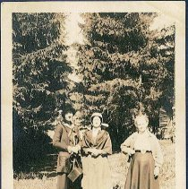Image of [Two Sisters and a Visitor] - Mount Lebanon, NY