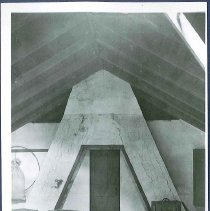 Image of [Attic of Second House, Showing A-Frame Chimney] - Mount Lebanon, NY