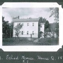 "Image of ""School House. House Q. 1823. S.E."" - Canterbury, NH"