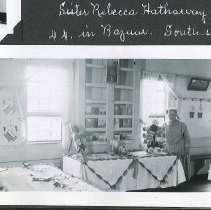 """Image of """"Sister Rebecca Hathaway in Bazaar. South Side."""" - Canterbury, NH"""