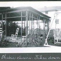 "Image of ""Shaker Chairs. Taken Down 1937"" - Canterbury, NH"