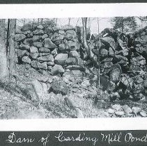 """Image of """"Dam of Carding Mill Pond"""" - Canterbury, NH"""