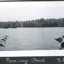 """Image of """"Run-Way Pond. N.E."""" - Canterbury, NH"""