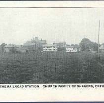 Image of View from the Railroad Station. Church Family of Shakers, Enfield, Conn. - Enfield, CT