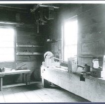 Image of [Lathe in the Laundry Building]  - Hancock, MA