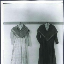 Image of [Two Sister's Dresses, One with Apron] - Hancock, MA
