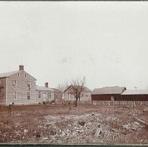 """Image of """"Ctr. F. Dwellings and Barns on One of the Tenant Farms."""" - Union Village, OH"""