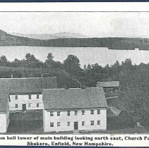Image of View From Bell tower of Main Building Looking North East, Church Family Shakers, Enfield, New Hampshire - Enfield, NH