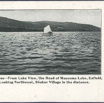 Image of A Water Scene- From Lake View, the Head of Mascoma Lake, Enfield, N.H., Looking Northwest, Shaker Village in the Distance - Enfield, NH