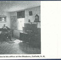 Image of Elder H.C. Blinn in His Office at the Shakers, Enfield, N.H. - Enfield, NH