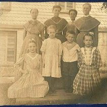 Image of [South Family Sisters and Children] - Watervliet, NY