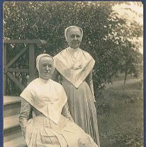 """Image of """"Sister Isabella Graves and Eldress Anna Case"""" - Watervliet, NY"""