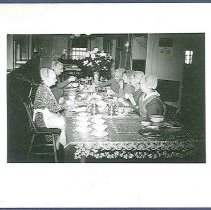 Image of [Group of Sisters Seated at a Table] - Canterbury, NH