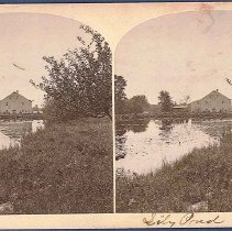 Image of No. 14. Lily Pond and Mirrored Mill. - Canterbury, NH
