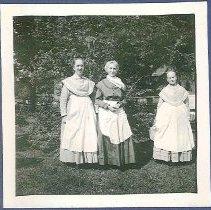 "Image of ""L. Belden (Elizabeth), Tillie Schmel (Matilda), E. Stowbridge (Emma)"" - Hancock, MA"