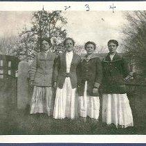 """Image of """"Alice Smith, Jennie Pettiff, Catherine Dimittroff, and Anna Delcheff"""" - Hancock, MA"""