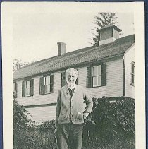 Image of [Osias Bogart in Front of South Family Store] - Watervliet, NY