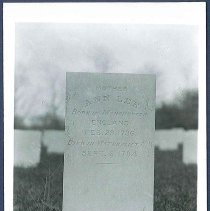 Image of [Mother Ann's Headstone, 1931] - Watervliet, NY