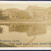 "Image of ""Shaker Pond, The Old Mill (Has Since Burned Down)"" - Mount Lebanon, NY"