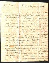 Image of 1820 John Brown to Samuel Brown