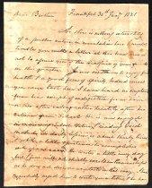 Image of 1821 John Brown to Samuel Brown