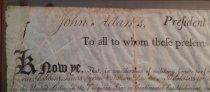 Image of John Adams signature detail