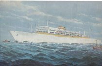 Image of Postcard of Passenger Ship