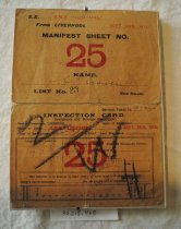Image of Manifest Card (shown with Inspection Card)