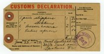 Image of 2015.085.005 - Declaration, Customs