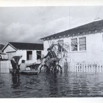 Image of Heather Gardens flood.  Print from negative.