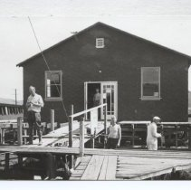 Image of Greenbrae Rod and Gun Club, under construction April 20, 1940, dedicated June 20, 1940