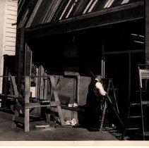 Image of Larkspur Pharmacy remodel. Mr. Mc Devitt (rear view)